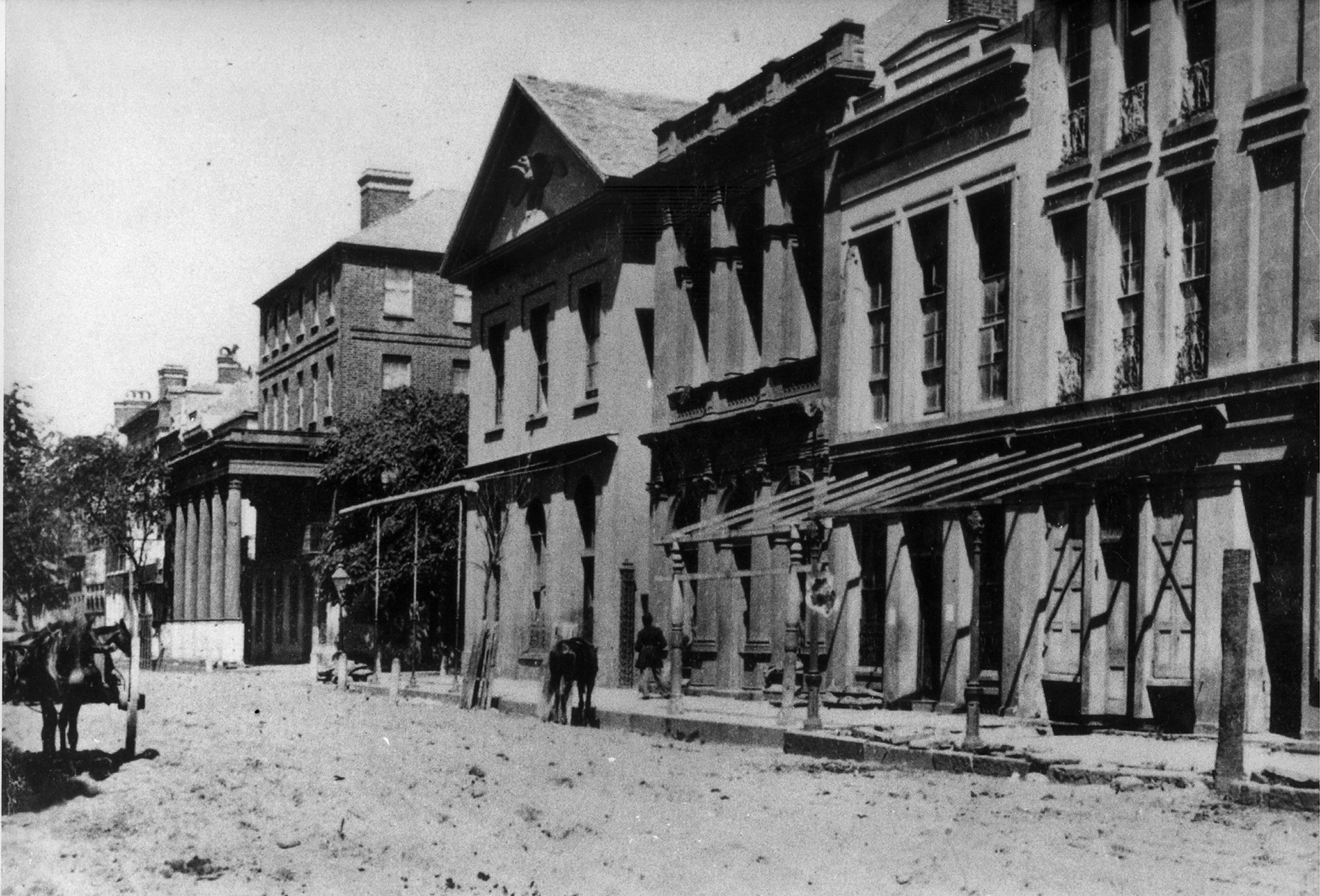 Broad Street looking west, spring 1865